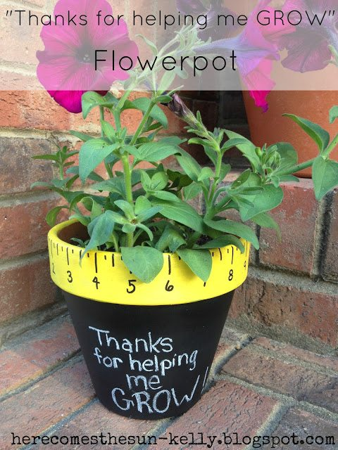 """Thanks for Helping Me Grow Flowerpot"" - the perfect teacher appreciation gift!"