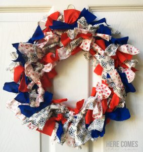 Patriotic Fabric Wreath
