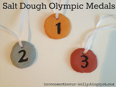 Salt Dough Olympic Medals I herecomesthesunblog.net