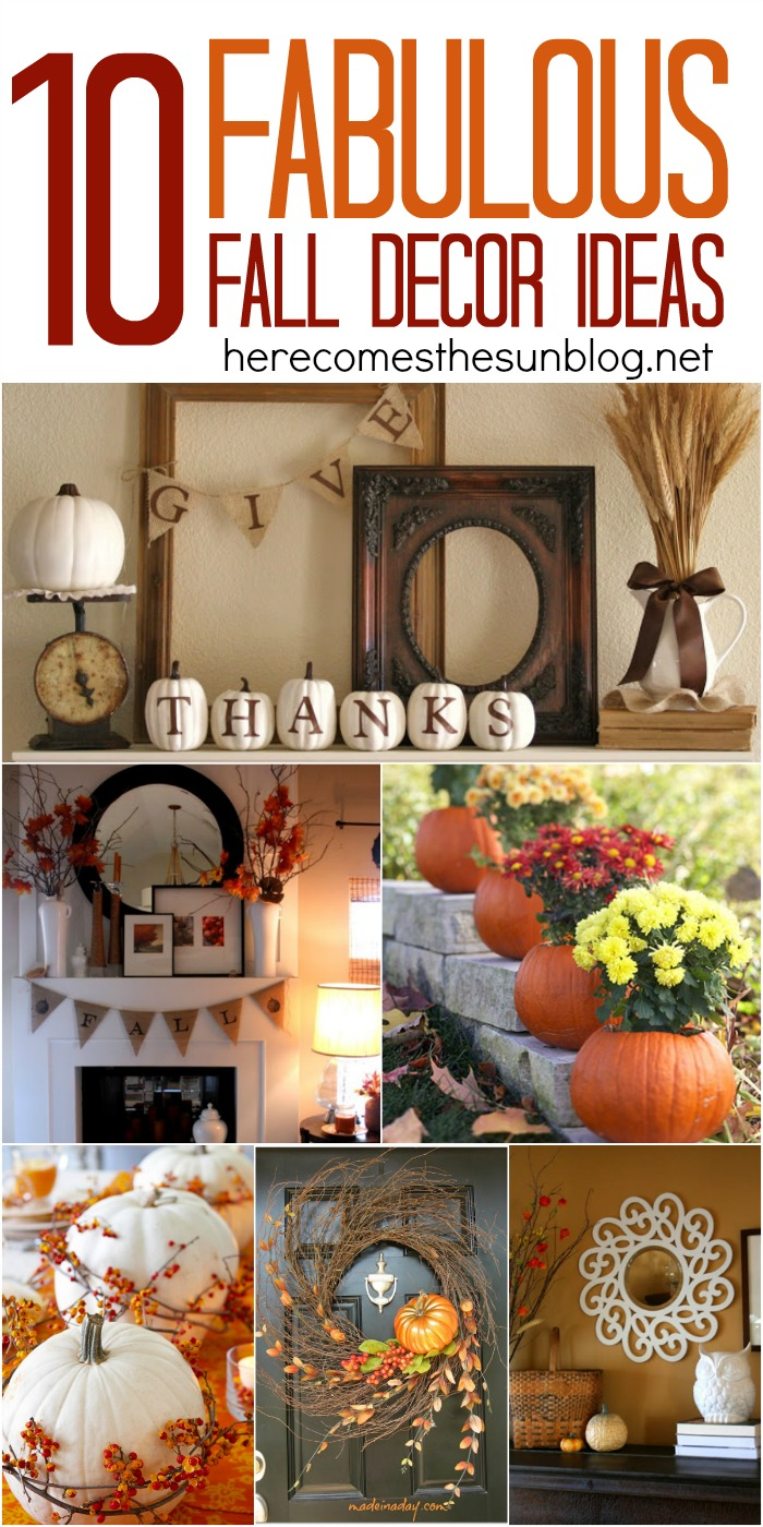 Fall decorating halloween ideas for home - Fall decorations for home ...