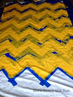 Yellow Chevron Curtains