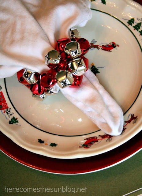 jingle bell napkin ring