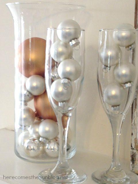 Bubbly New Year's Mantel