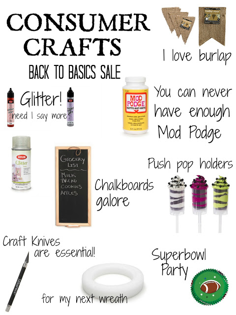 Consumer Crafts Back to Basics Sale  #craftbasics
