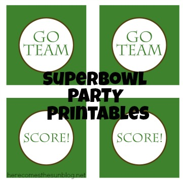 Super Bowl Party Free Printables from herecomesthesunblog.net