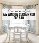 Easy DIY Bay Window Curtain Rod from herecomesthesunblog.net