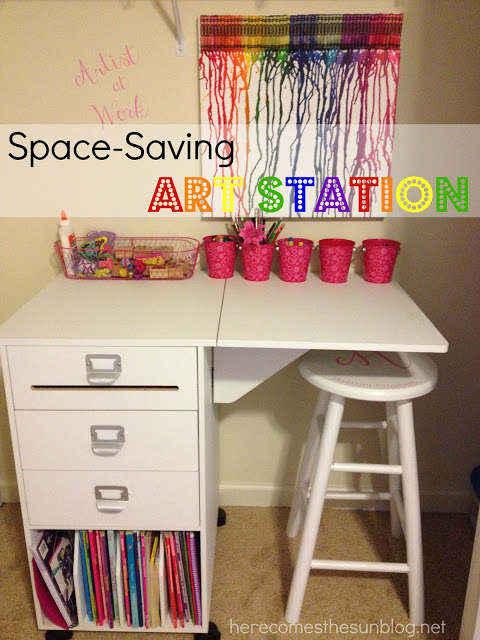Here Comes  the Sun: Space Saving Art Station