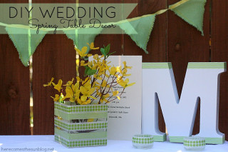 DIY+Wedding+Spring+Table+Decor