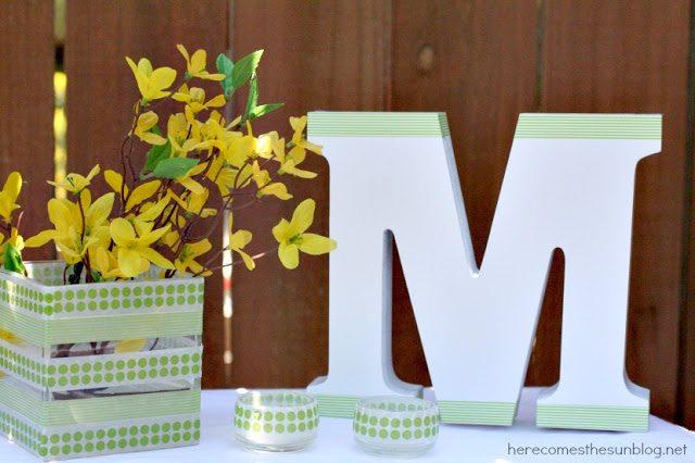 Here Comes the Sun:  DIY Wedding Spring Table Decor