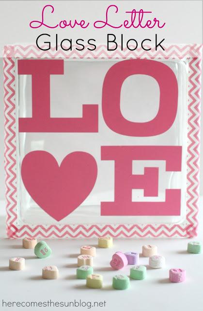 Love Letter Glass Block I herecomesthesunblog.net