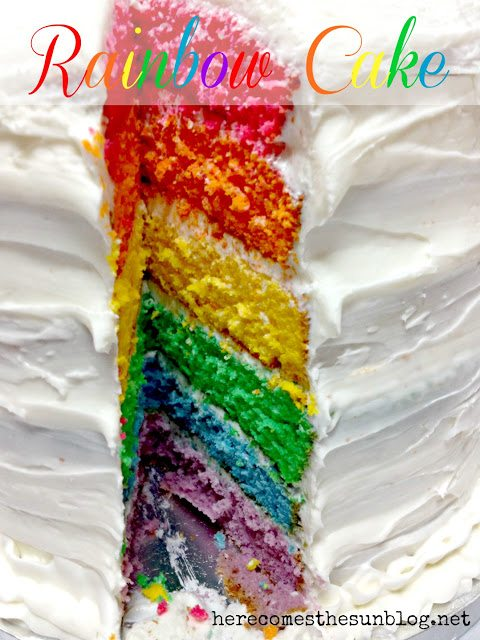 Here Comes the Sun: Rainbow Cake Tutorial