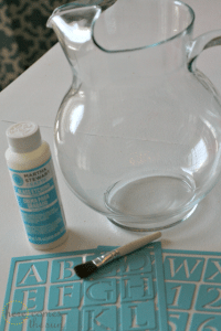 Etched Glass Pitcher with Martha Stewart Crafts