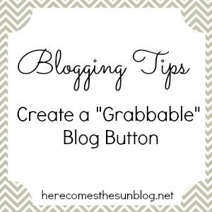 Here Comes the Sun: Create a Grabbable Blog Button