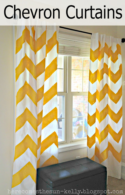 yellow+chevron+curtains