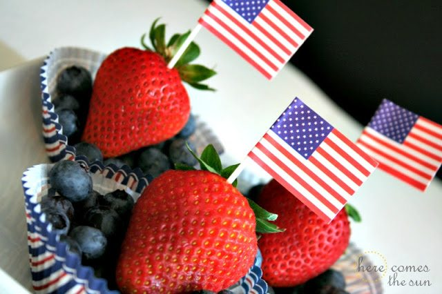 Here Comes the Sun: Patriotic Fruit Cups