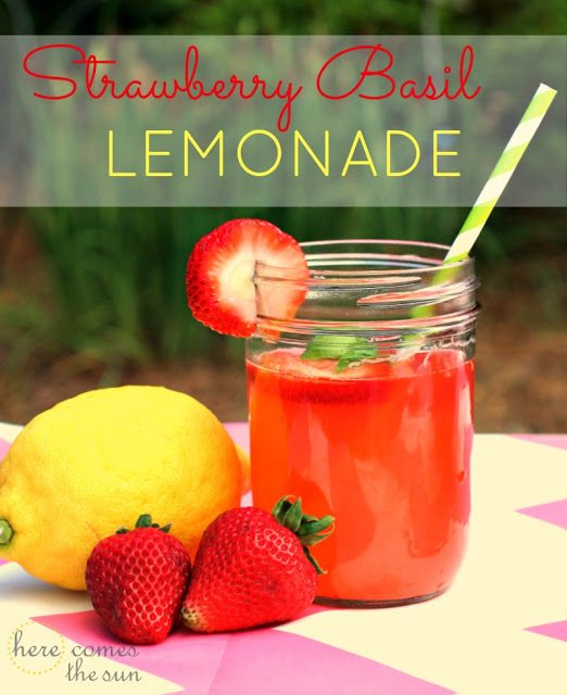 Here Comes the Sun: Strawberry Basil Lemonade