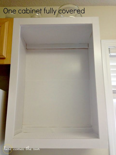 How to Update Kitchen Cabinets Using Contact Paper Tutorial