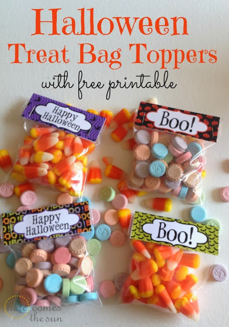 Halloween Treat Bag Toppers with free printable