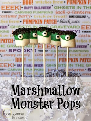 Yummy+Marshmallow+Monster+Pops
