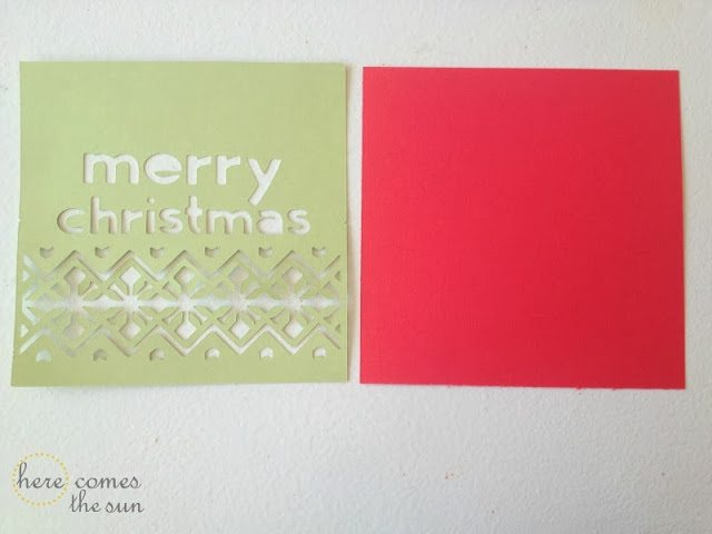 Learn to make this easy DIY Christmas Card with Cricut Craft Room