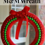 Gingerbread M&M Wreath
