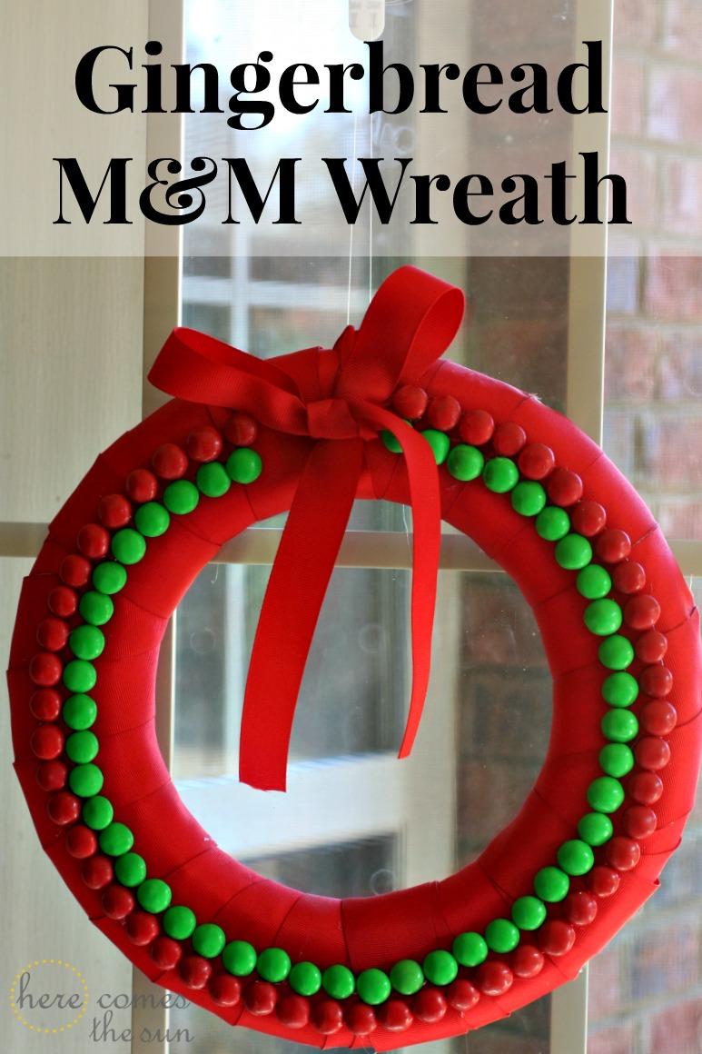 Gingerbread M&M Wreath
