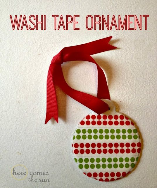 This Washi Tape Ornament is a perfect #Christmas craft for kids.