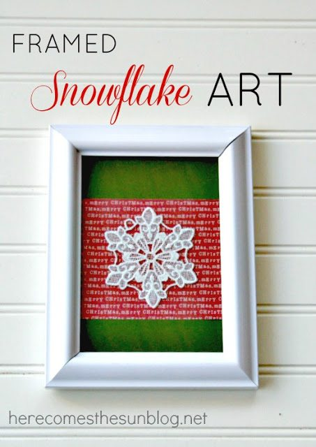 Framed Snowflake Art