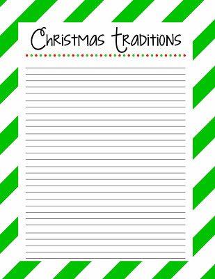 Christmas Traditions Free Printable