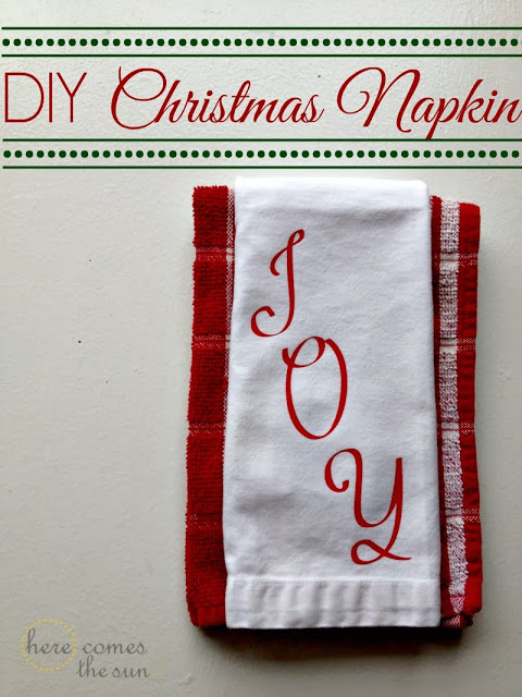 DIY Christmas Napkin