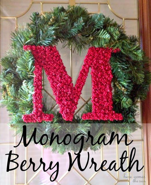 Monogram Berry Wreath