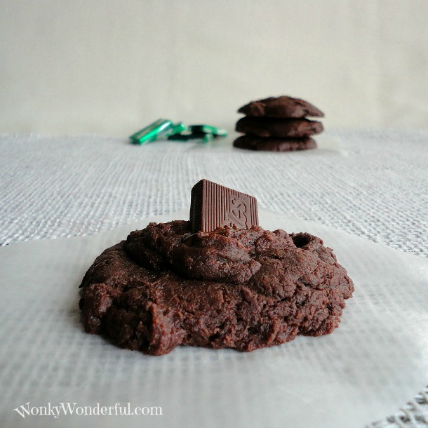 Andes Mint Dark Chocolate Cake Mix Cookies