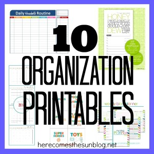 10 Organization Printables