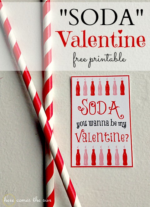 Soda Valentine free printable I herecomesthesunblog.net