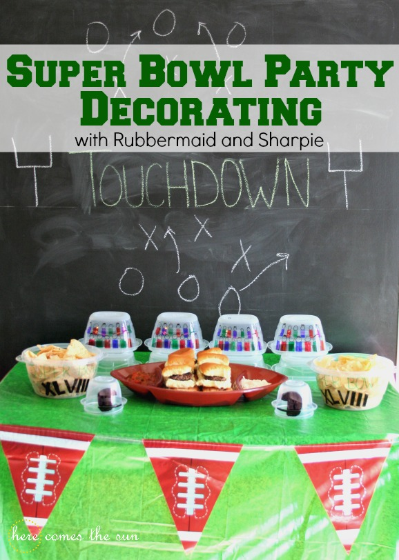 Superbowl Party Decorating Ideas I herecomesthesunblog.net #RubbermaidSharpie #PMedia #ad