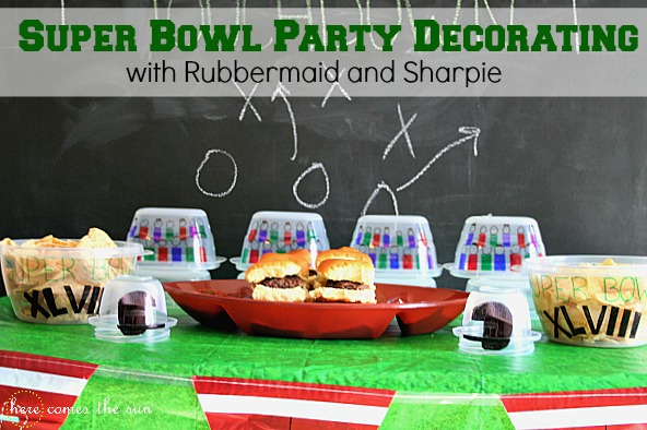 Super Bowl Party Decorationing Ideas #RubbermaidSharpie #PMedia #ad