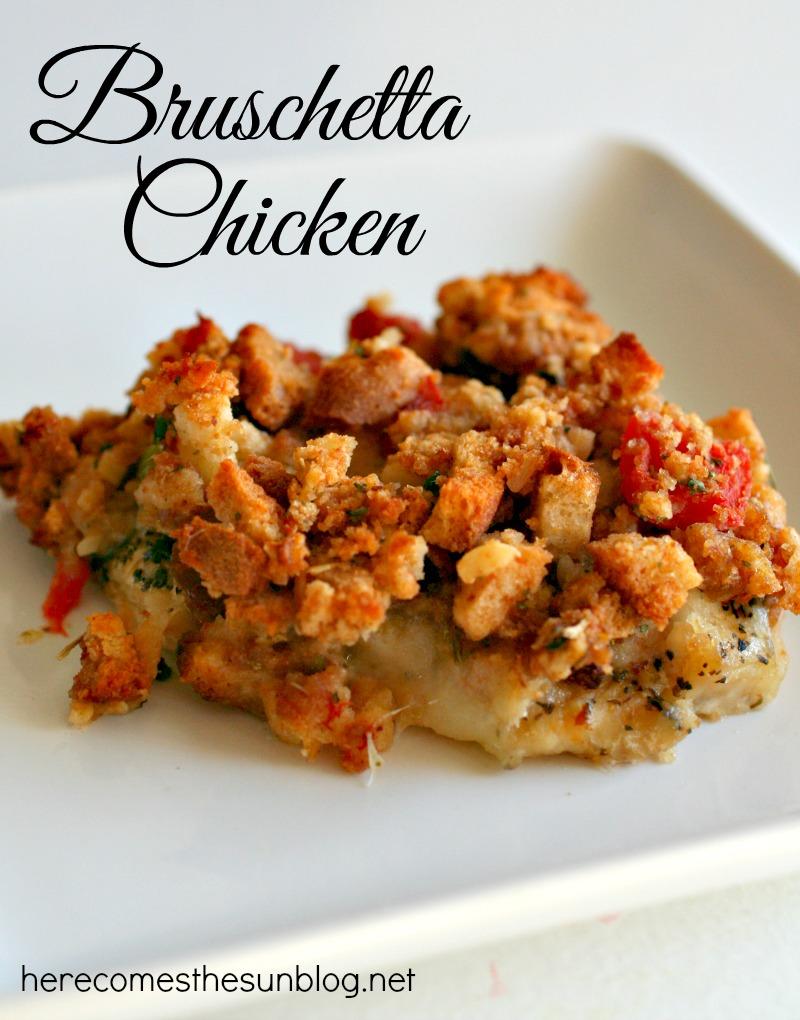 Bruschetta Chicken recipe I herecomesthesunblog.net