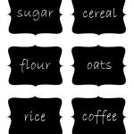 Free Printable Chalkboard Labels