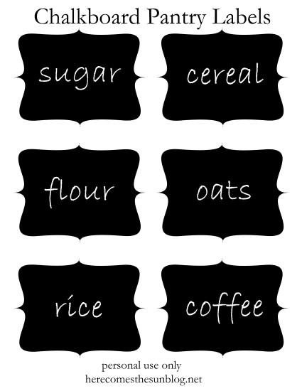 Declarative image pertaining to free printable chalkboard labels