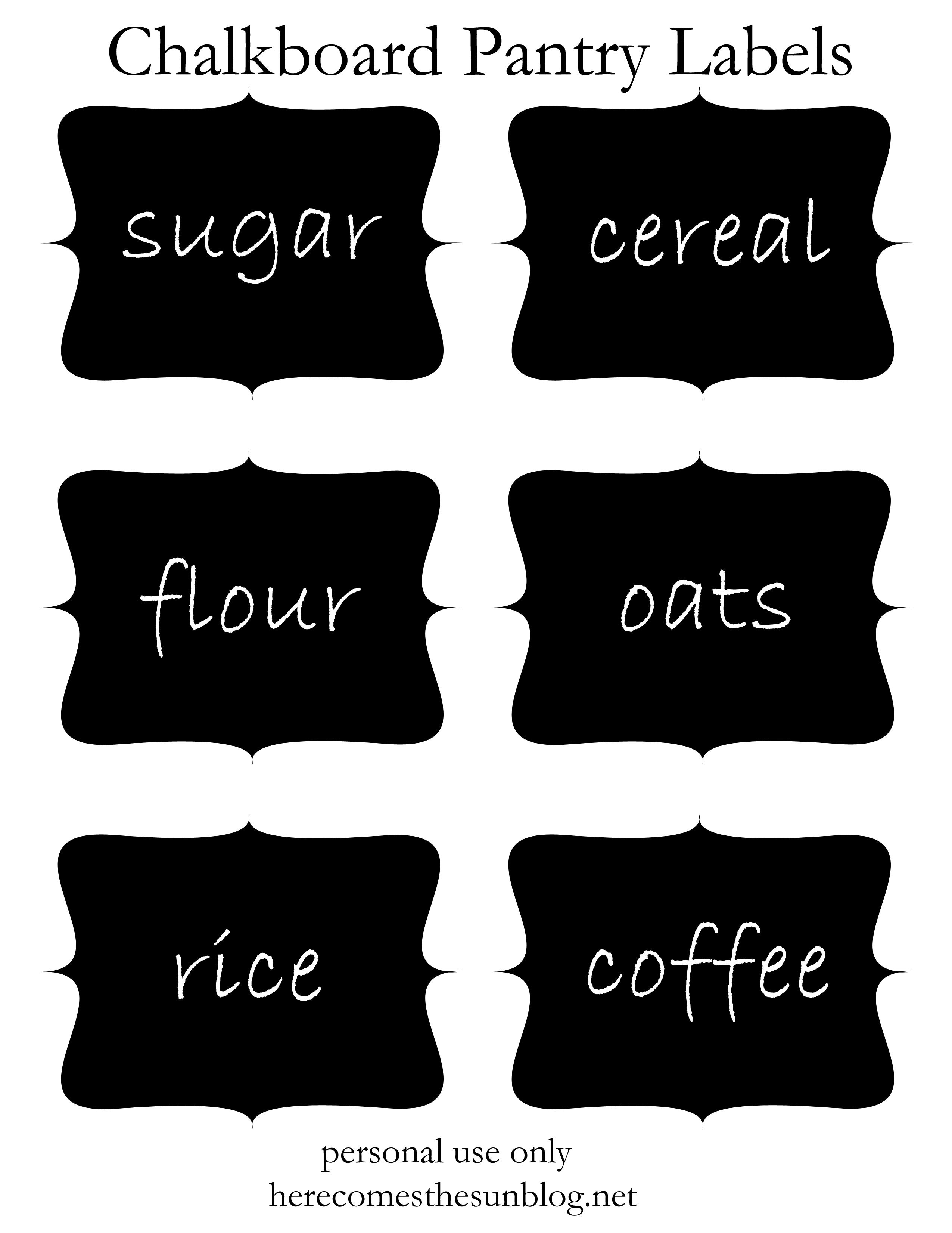 It's just a graphic of Free Printable Chalkboard Labels within font
