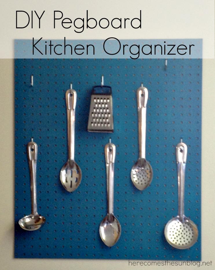 DIY Pegboard Kitchen Organizer