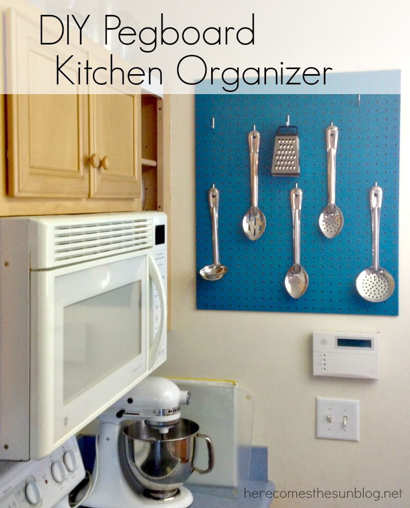 Kitchen Organizer Diy Pegboard Kitchen Organizer Here Comes The Sun