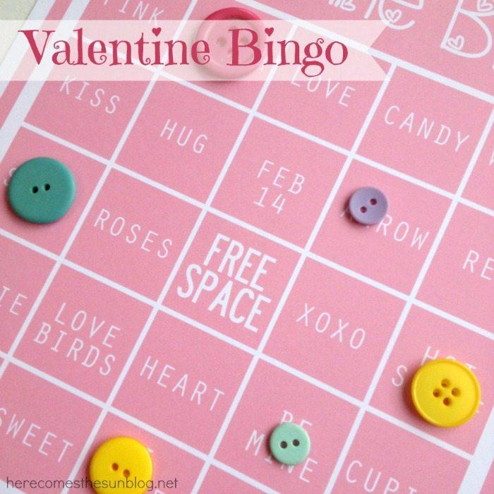 Valentine Bingo free printable game!