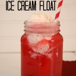 Delicious Valentine Ice Cream Float I herecomesthesunblog.net #valentine