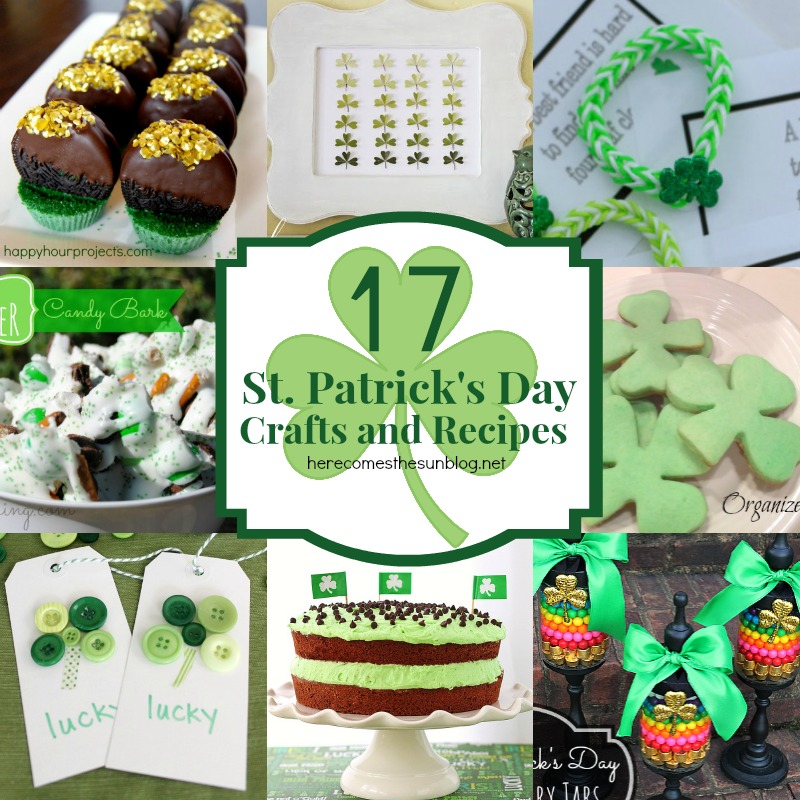 17 St. Patricks Day Crafts and Recipes I herecomesthesunblog.net
