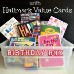 Create an EASY Birthday Box with Hallmark Value Cards. No more last minute shopping! Such a GREAT idea! I herecomesthesunblog.net