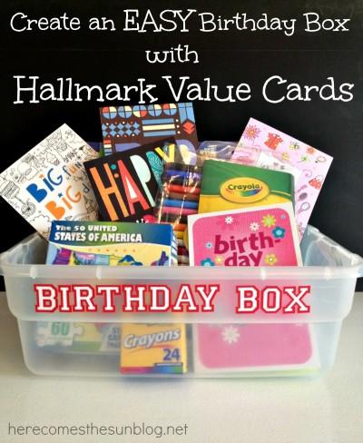 Easy Birthday Box with Hallmark Value Birthday Cards