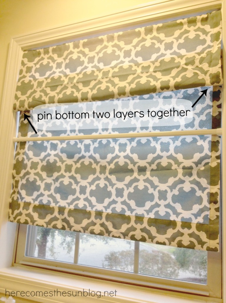 Easy No Sew Roman Shade