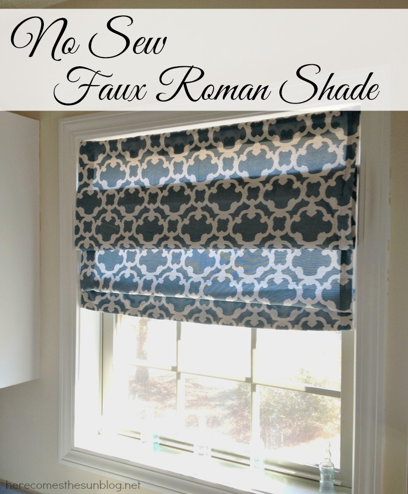 Easy No Sew Roman Shade!