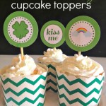 St. Patrick's Day cupcake toppers FREE PRINTABLES